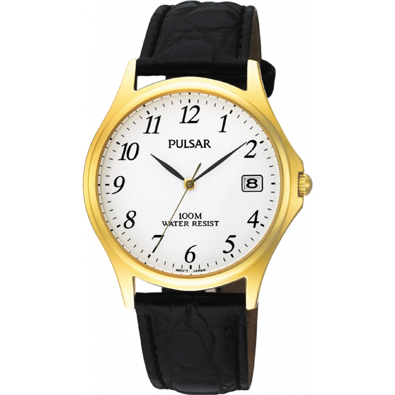 9afc17bcd Black Leather PXH566X1 Pulsar Watch | Watches2U