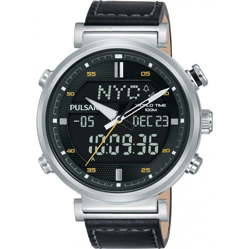 b64495a3e Black Leather PZ4053X1 Pulsar Watch | Watches2U