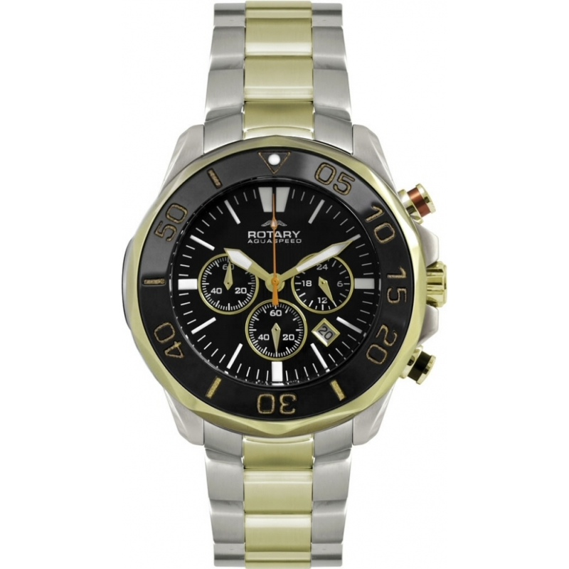 rotary agb00067 c 04 mens watch watches2u rotary agb00067 c 04 mens aquaspeed two tone chronograph sports watch