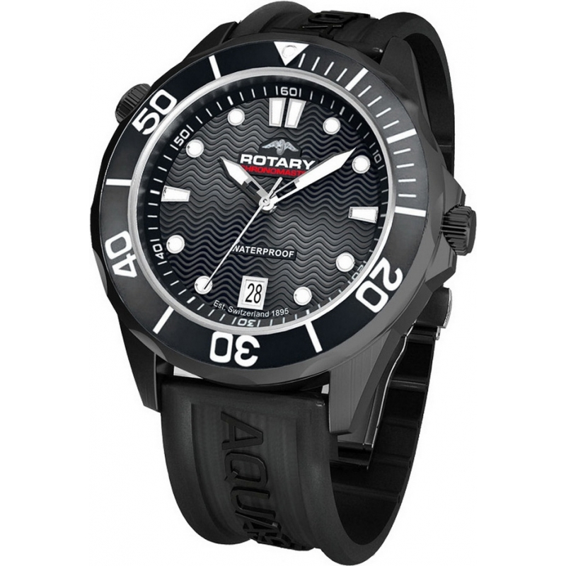 Rotary AGS00069-W-04 Mens Aquaspeed Black Sports Watch