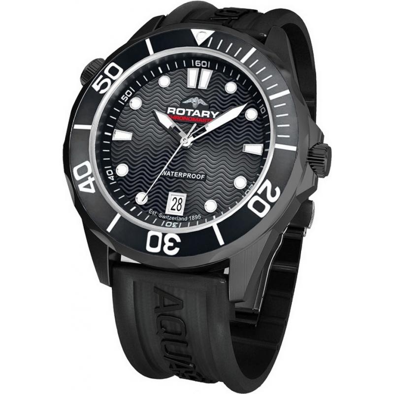 Rotary AGS00069-W-04 Mens Aquaspeed Black Sports Watch