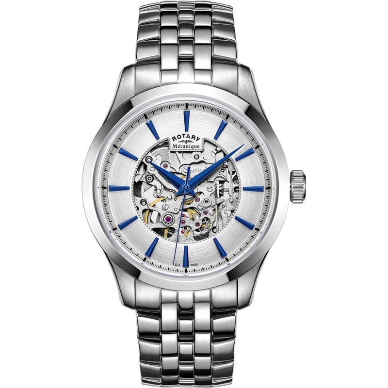 2f6d00916722 Buy rotary mens silver skeleton bracelet watch gb05032 . Shop every ...