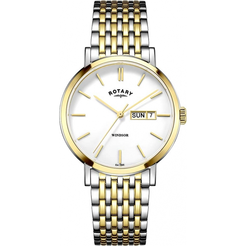 8edca7ea6c20 Rotary GB05301-01 Mens Timepieces Windsor Two Tone Gold Plated Watch