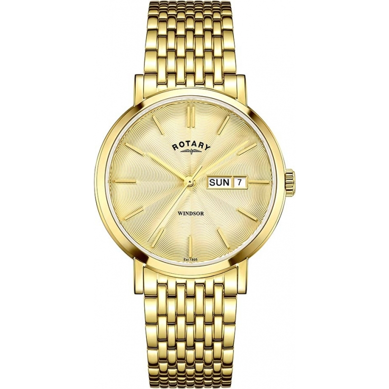 55c95dd47fd2 GB05303-03 - Rotary Mens Timepieces Windsor Gold Plated Watch