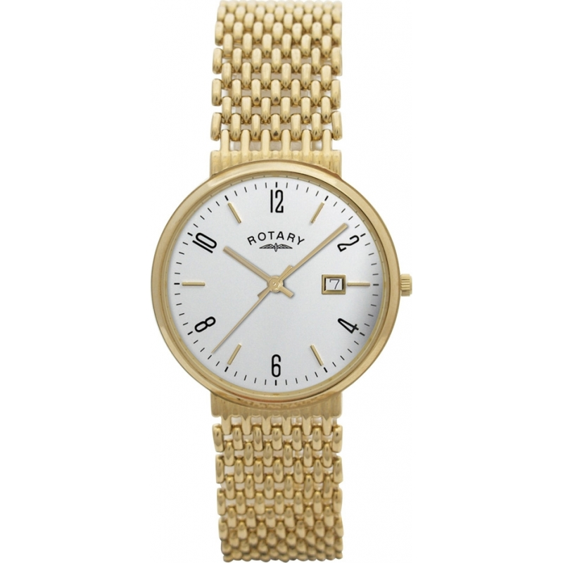 rotary watches gb10900 18 mens 9ct gold bracelet