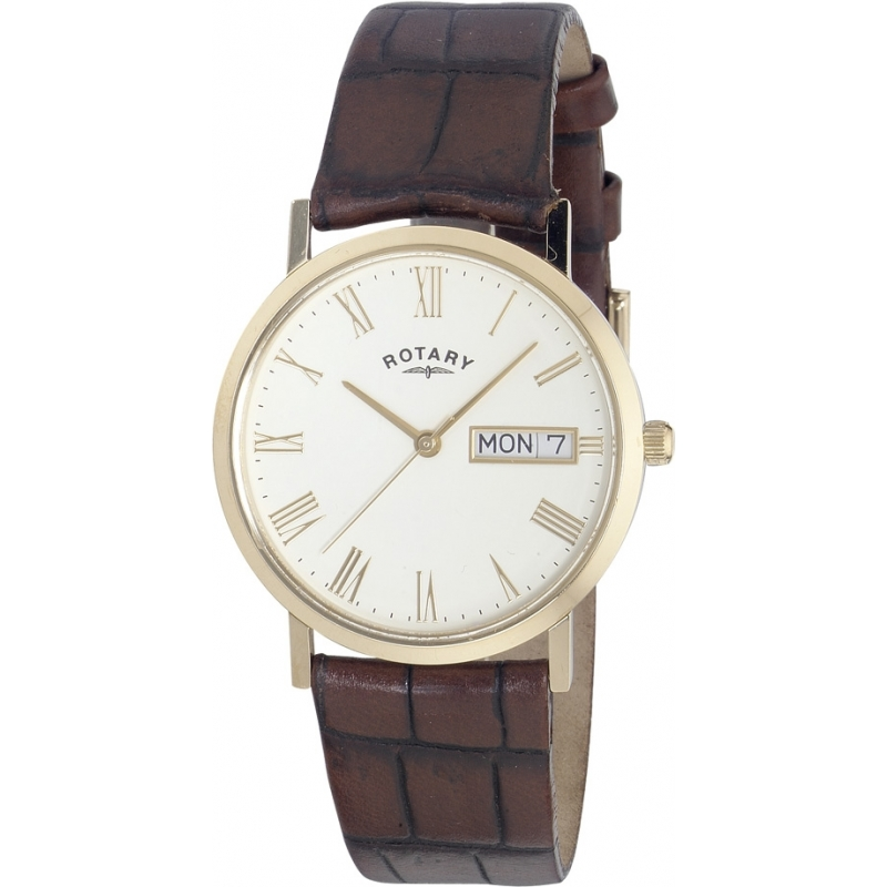 gs02324 32 rotary mens timepieces white brown