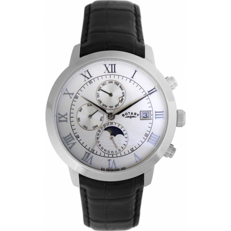Rotary GS02377-01 Mens Automatic Moonphase Watch