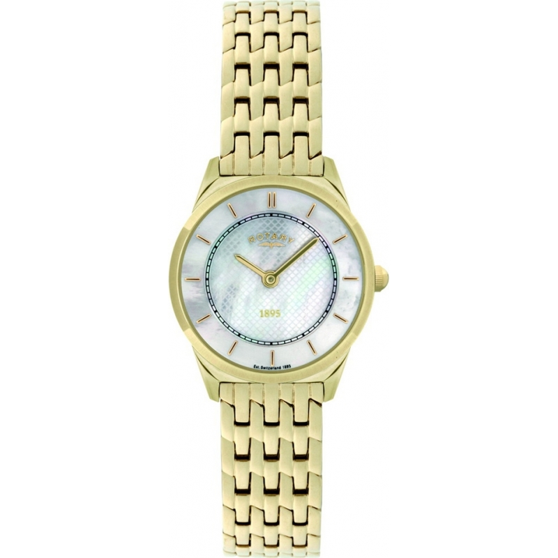 Rotary LB08002-40 Ladies Ultra Slim Gold Plated Watch