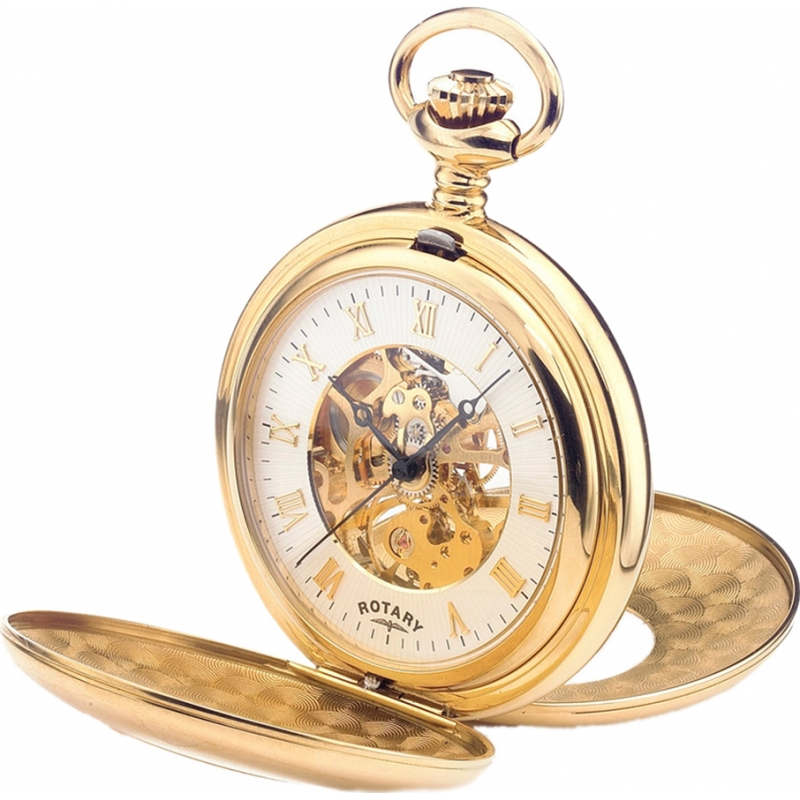 mp00713 01 rotary mens mechanical skeleton gold plated pocket watch rotary mp00713 01 mens mechanical skeleton gold plated pocket watch chain