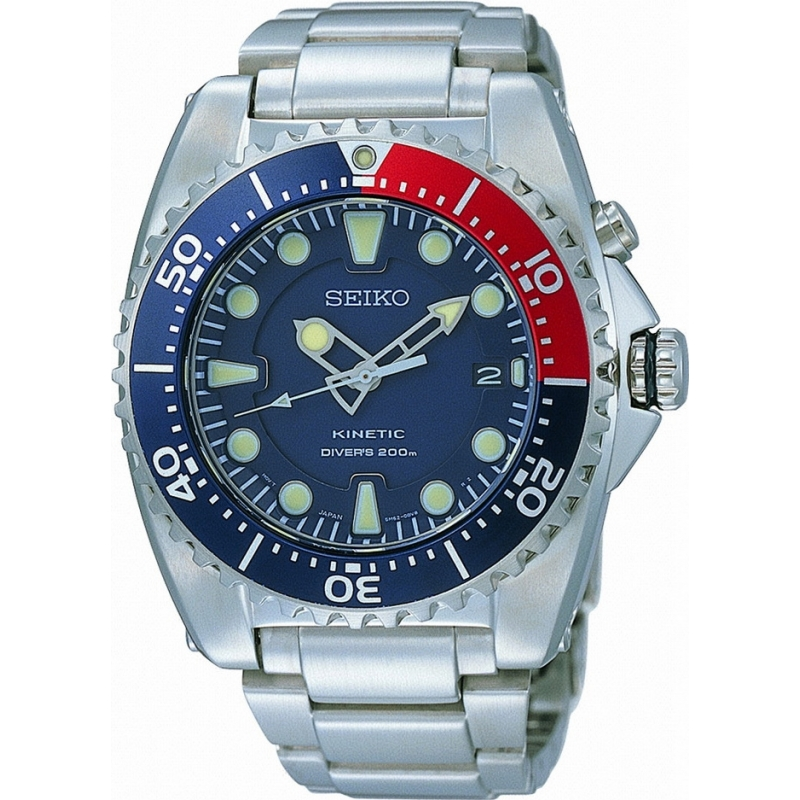 Seiko SKA369P1 Mens Kinetic Divers Watch