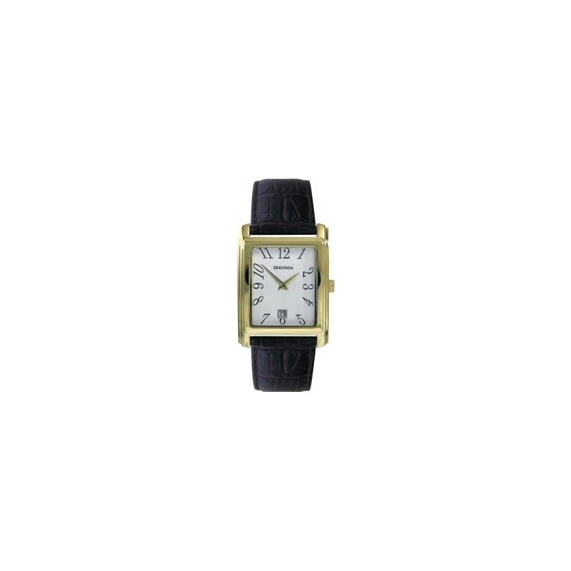 Sekonda Watches 3030 Mens Quartz Analogue Brown Leather Strap White Dial Watch