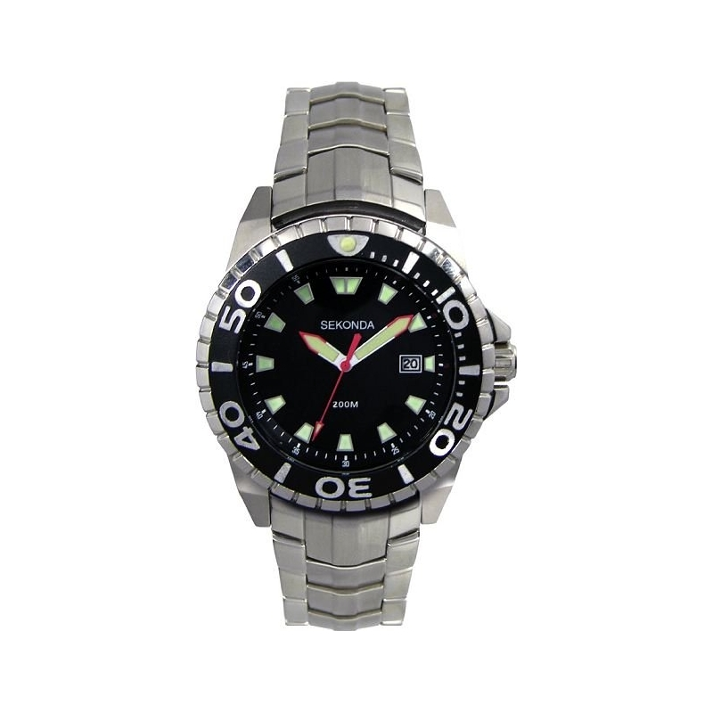 Sekonda 3870-27 Mens Black Steel Watch