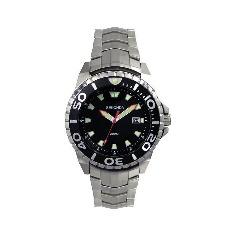 Sekonda 3870-27 Mens Black Steel Watch