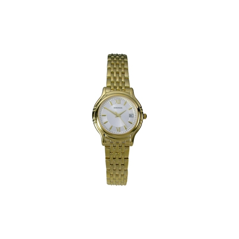 4555-1B Royal London Mens Gold Plated Black Leather Strap Watch