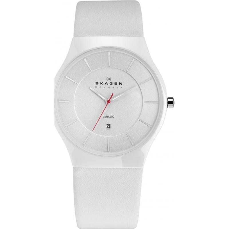 233xlclw mens skagen watch watches2u skagen 233xlclw mens white ceramic watch
