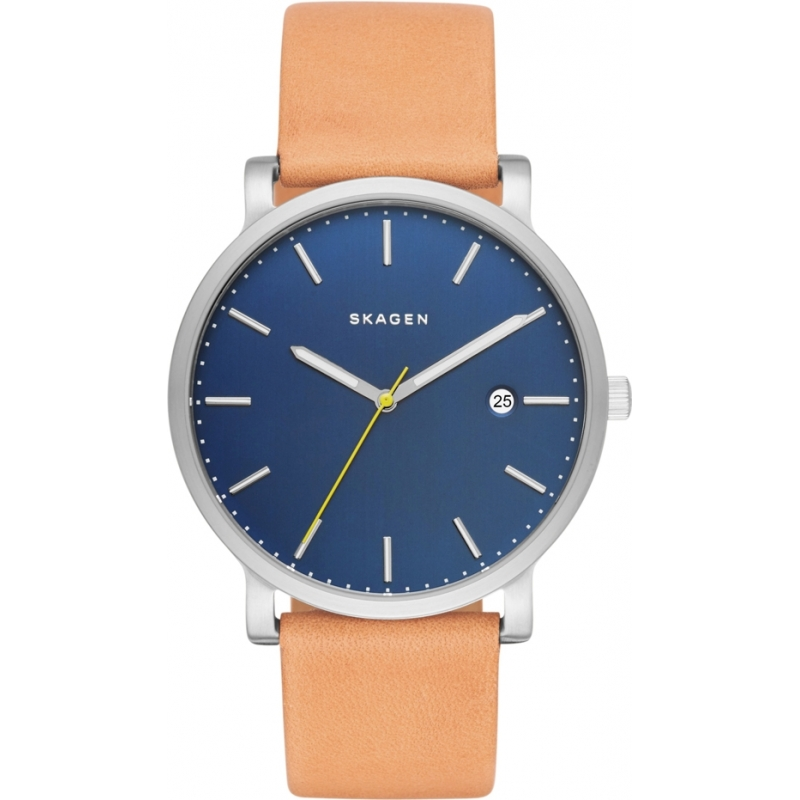 skw6279 hagen skagen mens watch watches2u skagen skw6279 mens hagen light brown leather strap watch