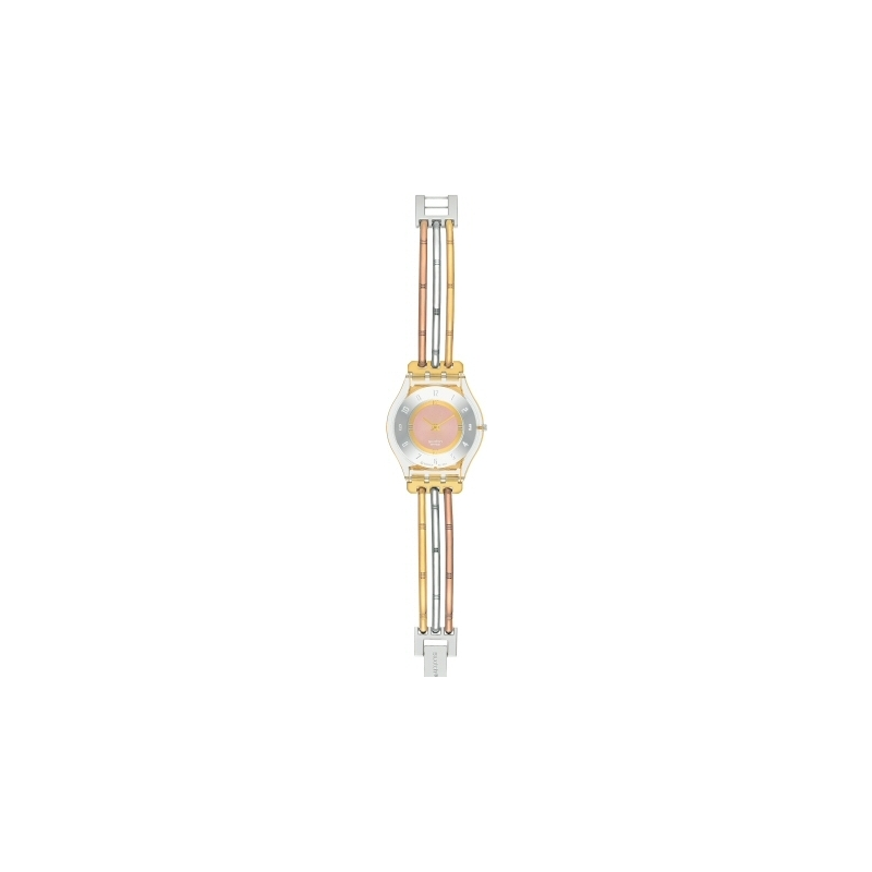SFK240B Swatch Ladies Tri-Gold (Small) Stainless Steel Bracelet Watch
