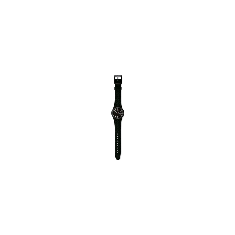 SUJM704 Swatch Unisex Living Swiss Black Dial And Silicone Strap Watch