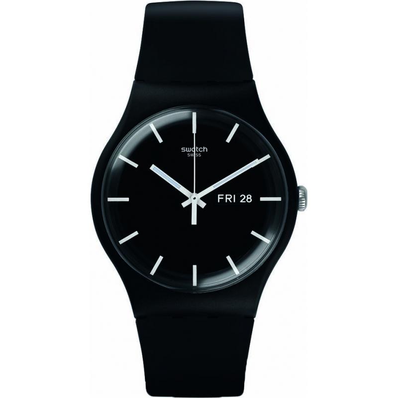 Swatch SUOB720 New Gent - relógio preto mono