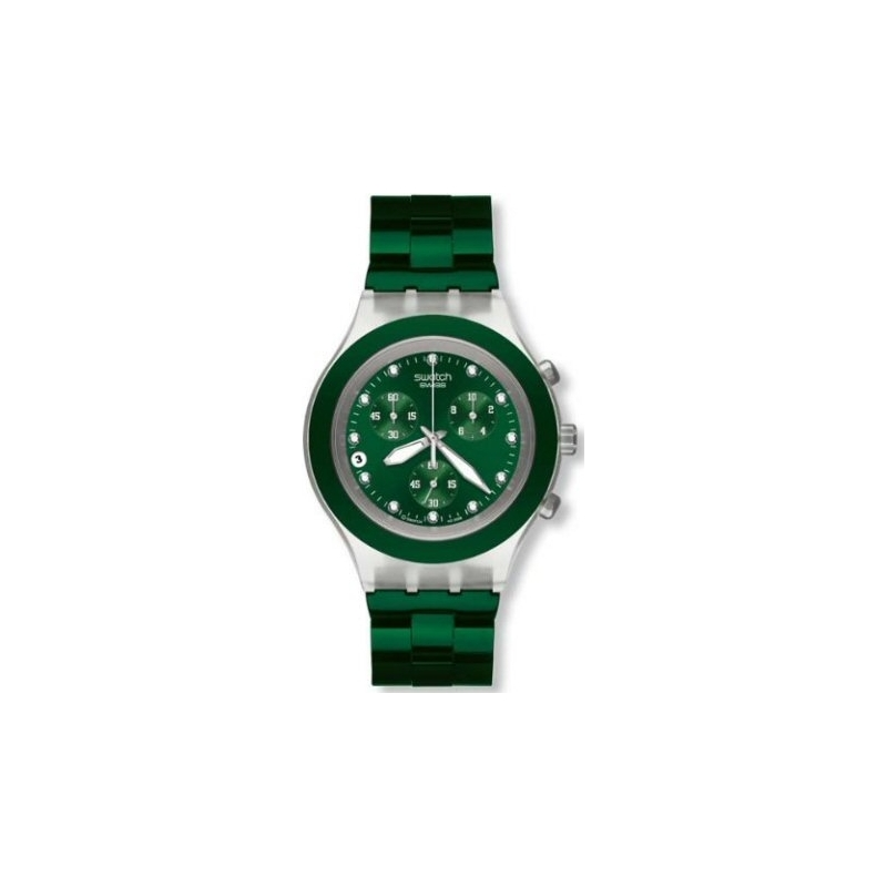 Swatch SVCK4043AG Mens Full Blooded Green Chronograph Watch