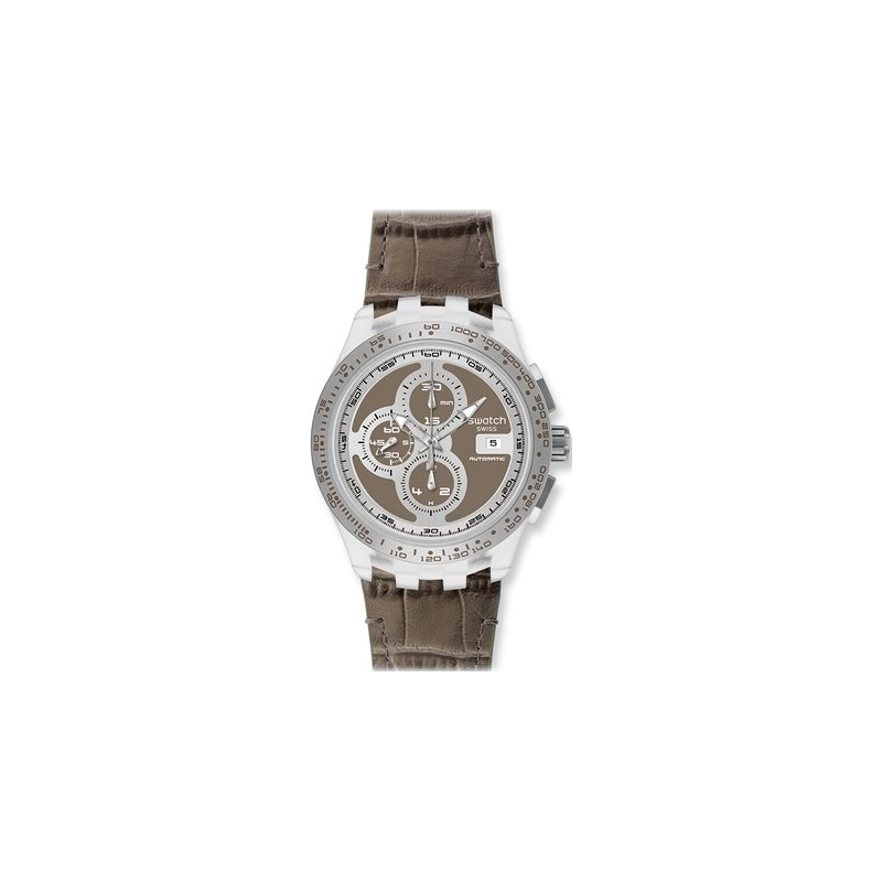 Swatch Watches SVGK409 Mens Right Track Grey Swiss Automatic Watch