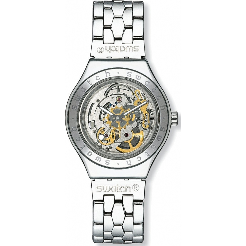 Swatch Watches YAS100G Mens Body And Soul - Metal Skeleton Dial Bracelet Watch