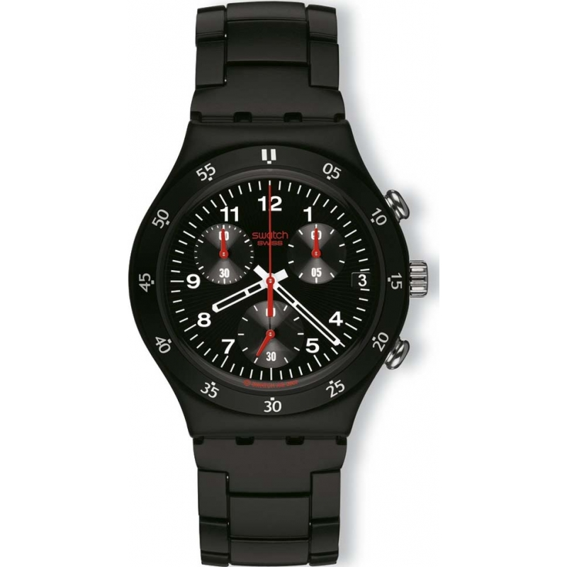 Swatch Watches YCB4008AG Mens Irony Black Ip Steel Bracelet Watch
