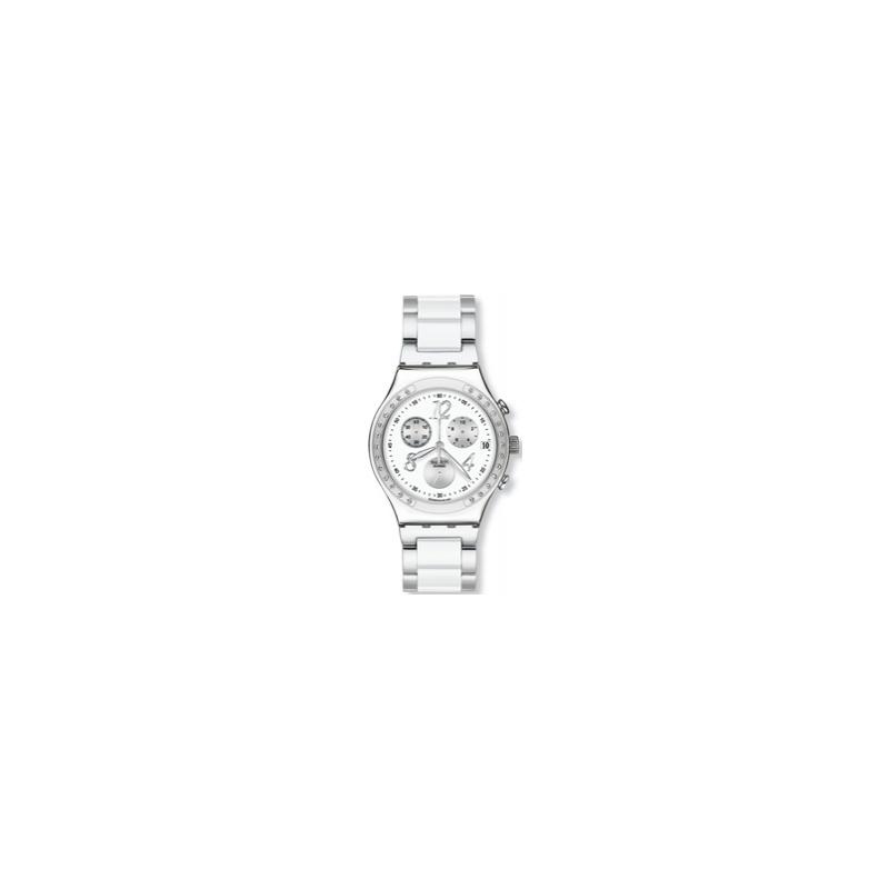 Swatch Watches YCS511G Unisex Dreamwhite Stainless Steel Bracelet Watch