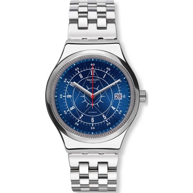 Swatch YIS401G Mens sistem prata boreal pulseira de aço relógio