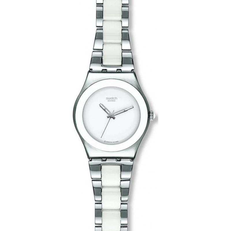 03048828610 Silver White Metal YLS141GC Swatch Tresor Blanc Watch