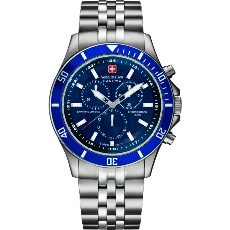 Swiss Military 6-5183-7-04-003 Mens flagship chrono relógio de prata