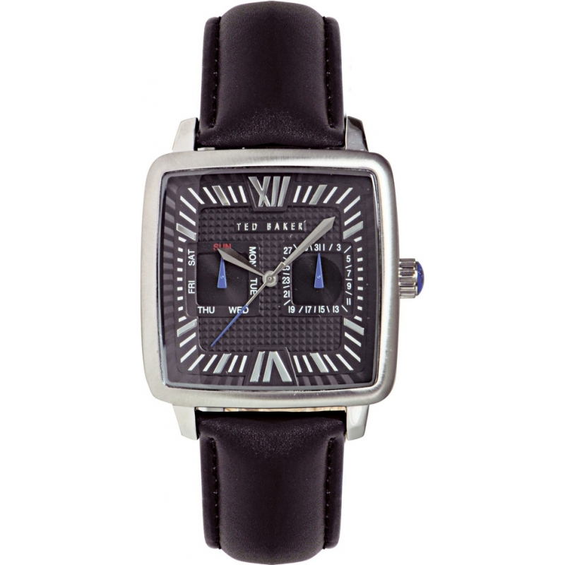 Ted Baker Watches TE1053 Mens Black Dial And Leather Strap Watch