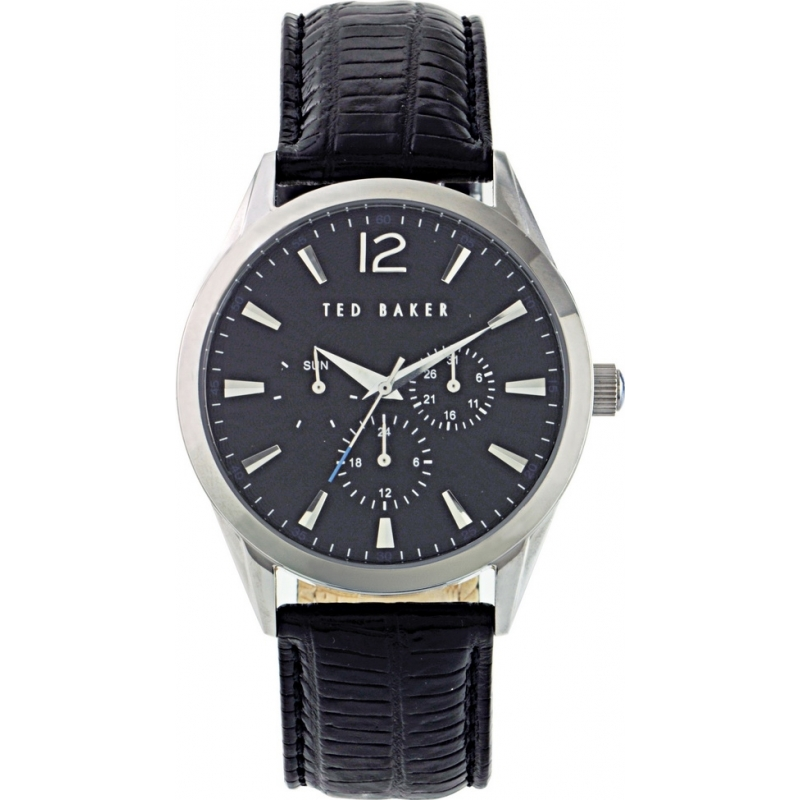 Ted Baker Watches TE1057 Mens Black Dial And Leather Strap Watch