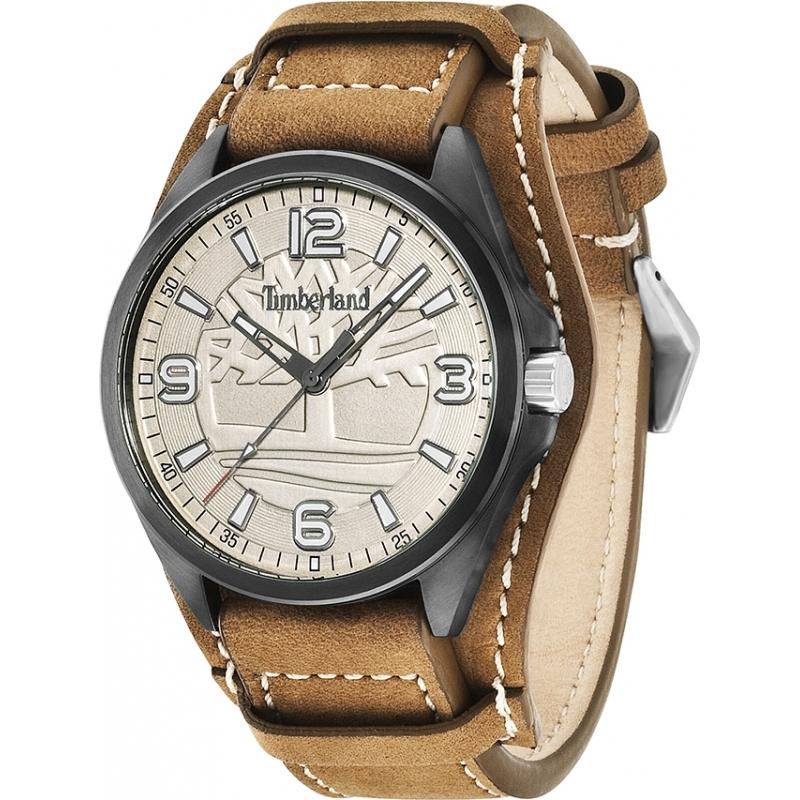 14117jsb 14 timberland mens sebbins beige brown leather strap watch timberland 14117jsb 14 mens sebbins beige brown leather strap watch