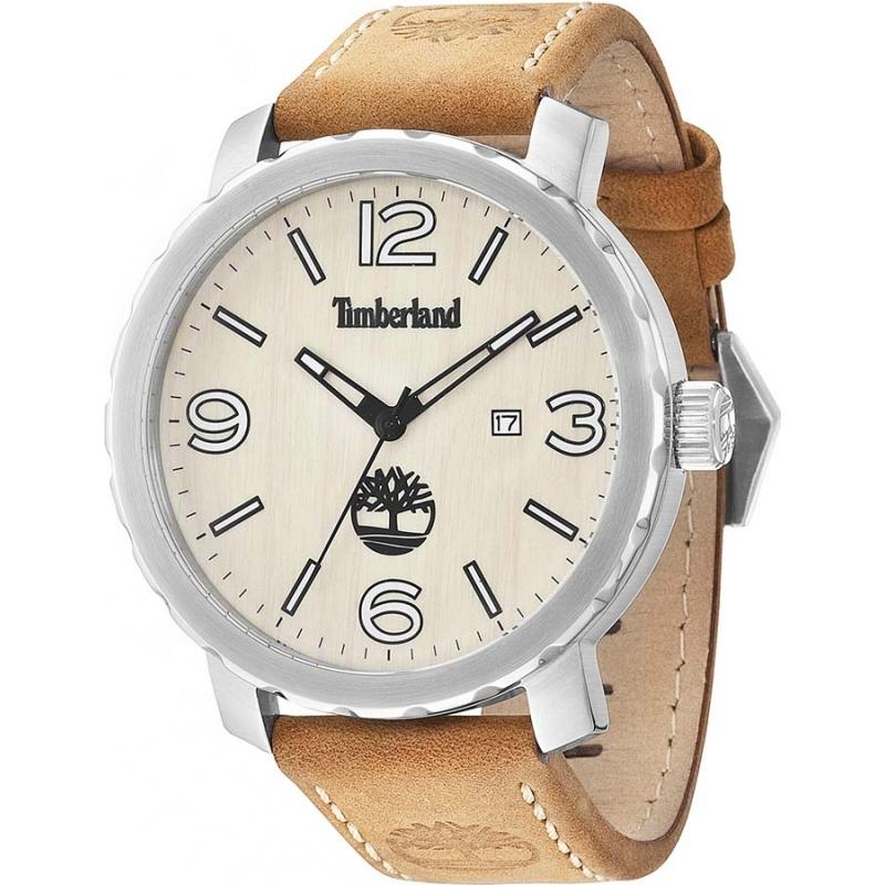 14399xs 07 timberland mens pinkerton tan leather strap watch timberland 14399xs 07 mens pinkerton tan leather strap watch