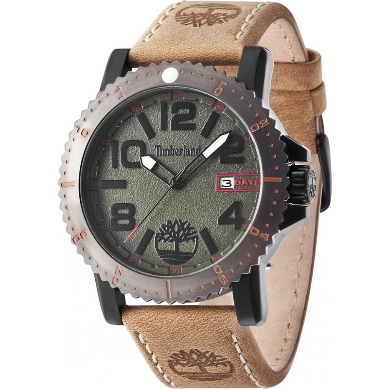 14479jsbu 19 timberland mens hyland light brown leather strap watch timberland 14479jsbu 19 mens hyland light brown leather strap watch