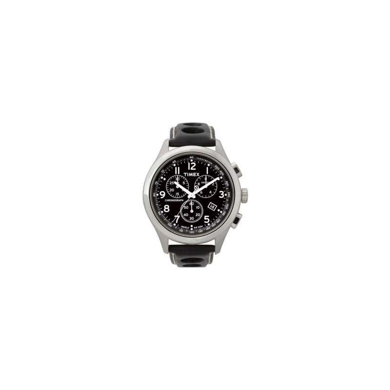 Timex Watches T2M552 Mens T Series Black Leather Strap Chronograph Watch