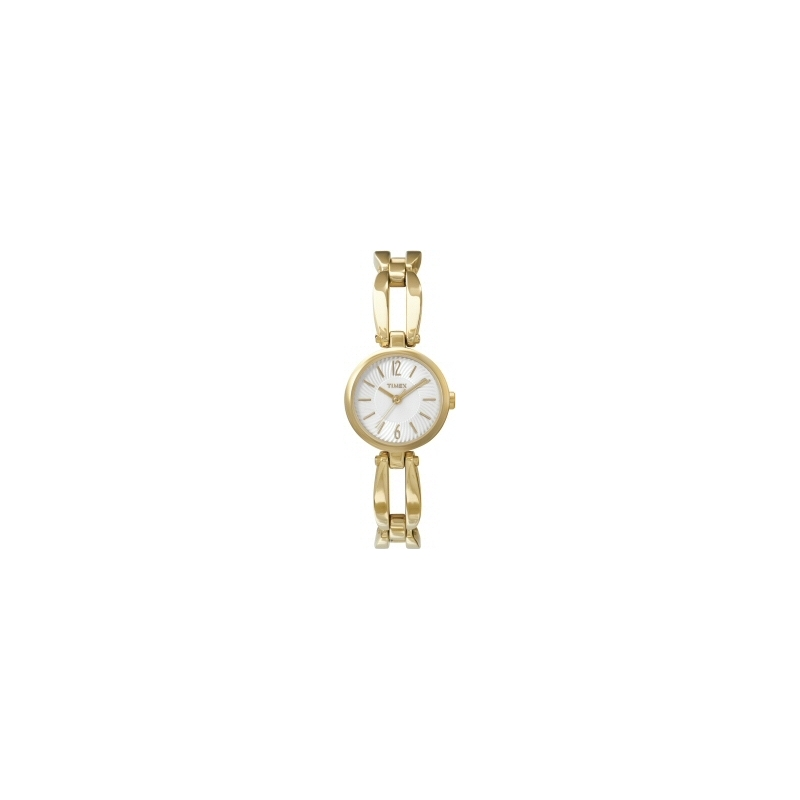 Timex T2M729 Ladies White Gold Classic Lingerie Watch