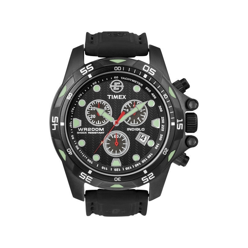 Timex Watches T49803 Mens Expedition Black Resin Chronograph Watch