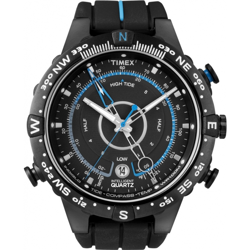 Timex Watches T49859 Mens Expedition Tide Compass Black Watch