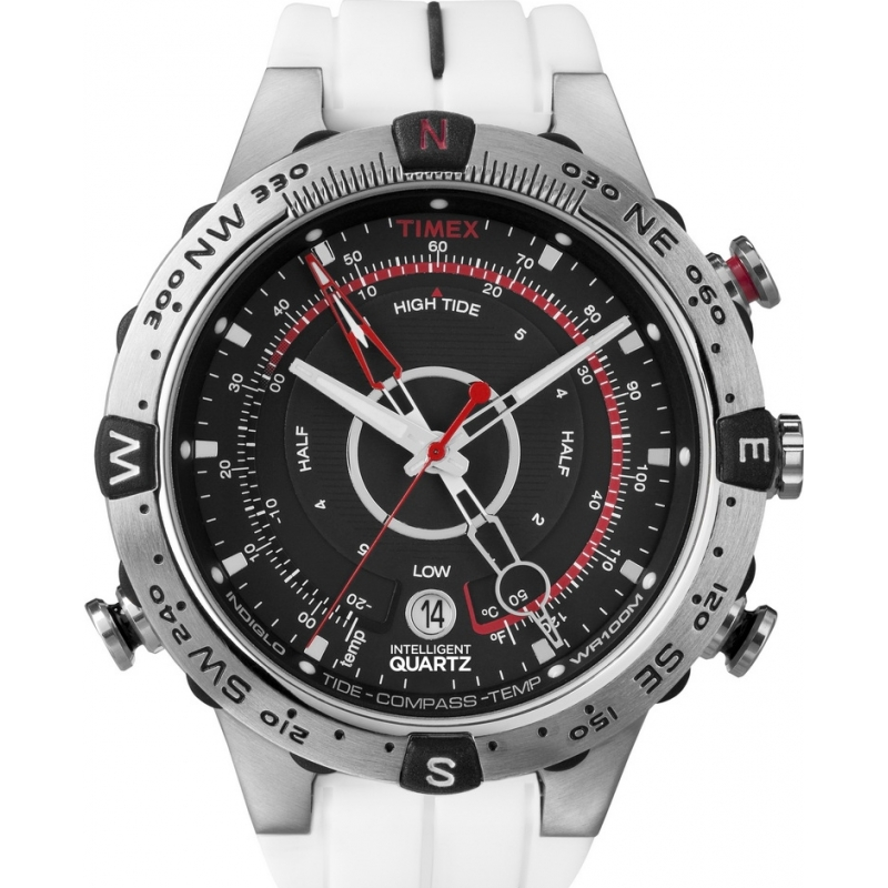 Timex Watches T49861 Mens Expedition Tide Compass Black White Watch