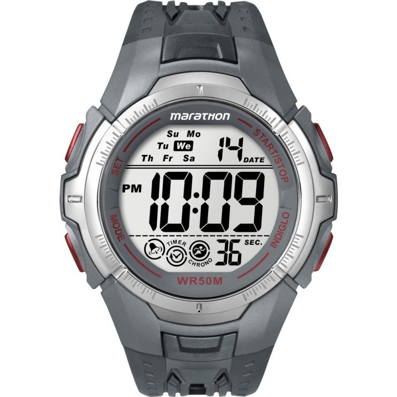 Timex T5K358 Mens Grey Marathon Sport Watch