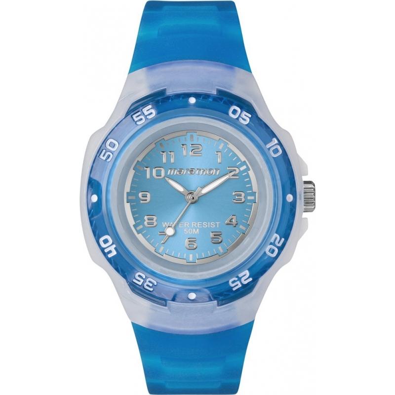 Timex T5K365 Blue Marathon Sport Watch