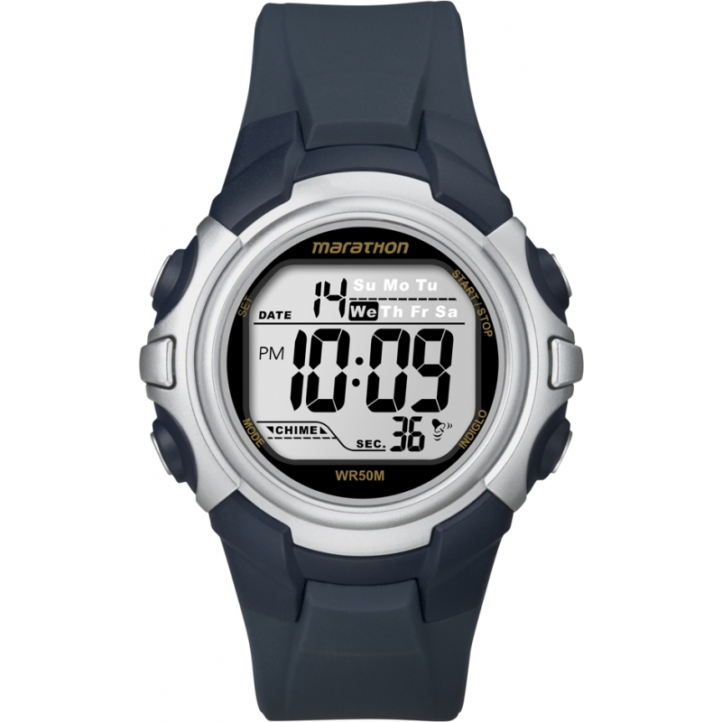Timex T5K644 Mens Blue Marathon Sport Digital Watch