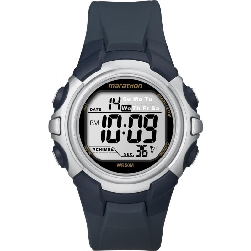 Timex T5K644 Mens Blue Marathon Sport Digital Watch