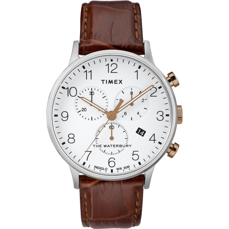 ed6898e1375d Brown Leather TW2R72100 Timex Watch