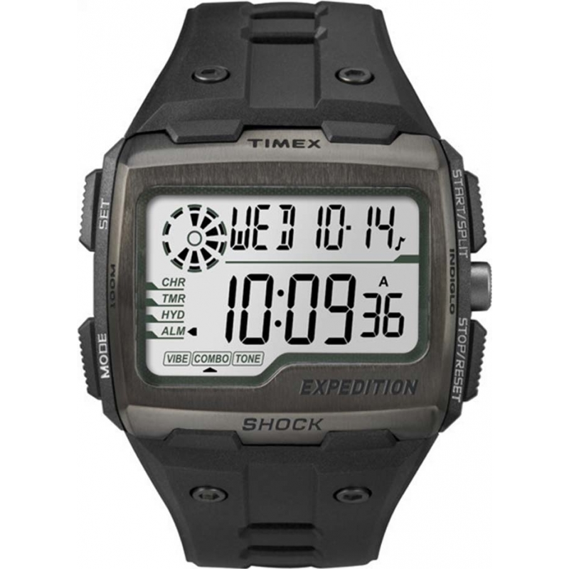 Timex TW4B02500 Mens expeditie digitale shock black chrono horloge